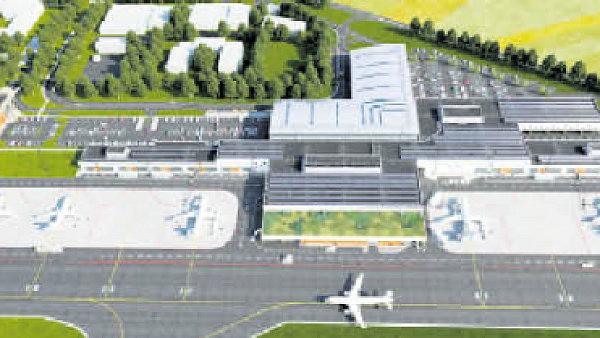 Vizualizace nového letiště ve Vodochodech