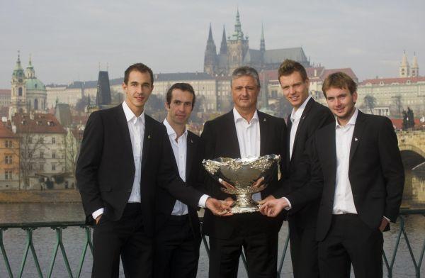 Focení vítězů Davis Cupu