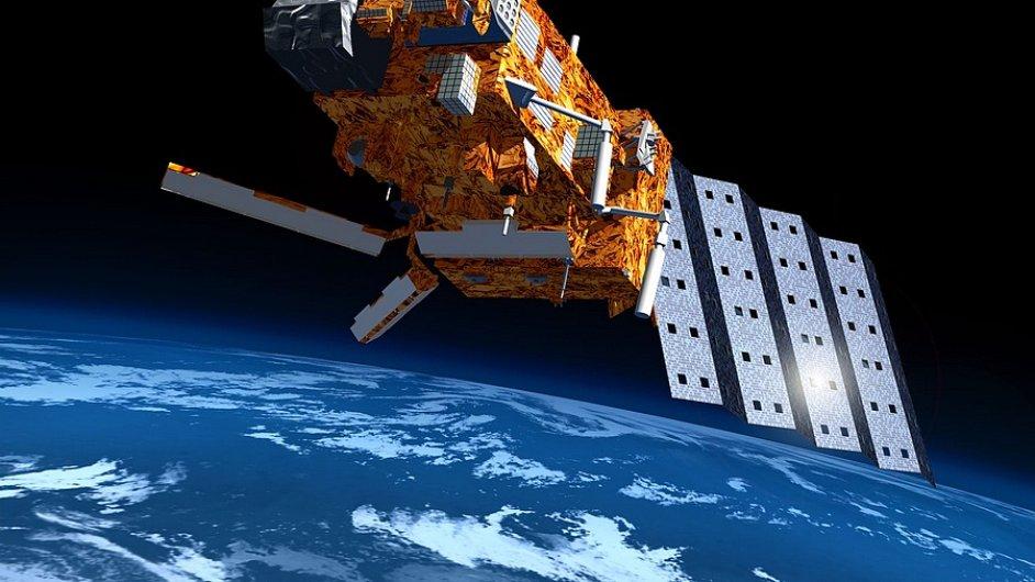 METOP, evropský satelit na polární oběžné dráze.