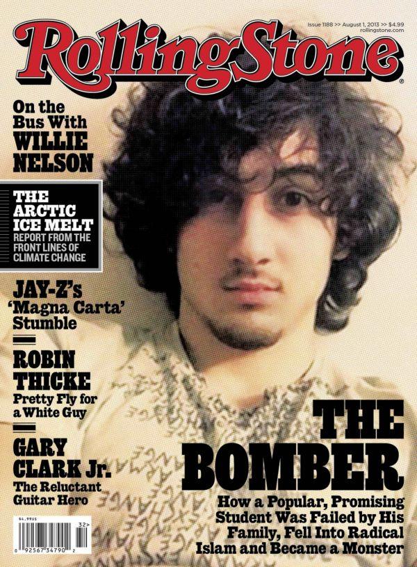 Džochar Carnajev na titulce magazínu Rolling Stone