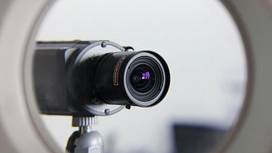 Bezpečnostní kamera, ilustrační foto