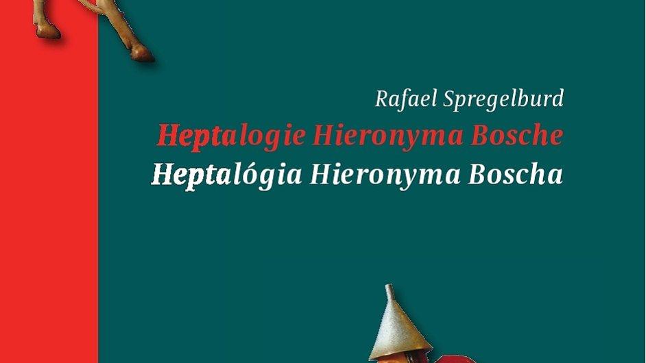 Zvetšenina obalu knihy Heptalogie Hieronyma Boscha, která dostala anticenu Skřipec.