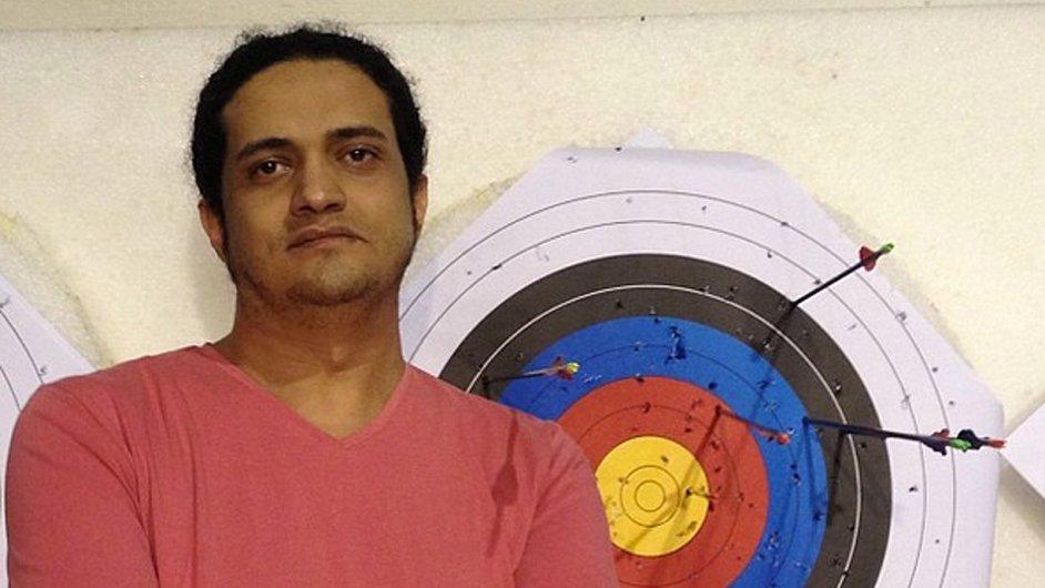 Na snímku odsouzený palestinský básník Ašraf Fajád.
