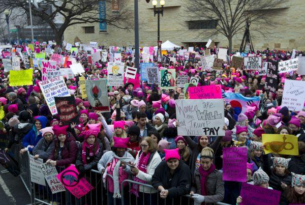 Demonstrace za práva žen.