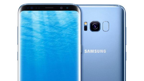 Galaxy S8 v barvě Coral Blue