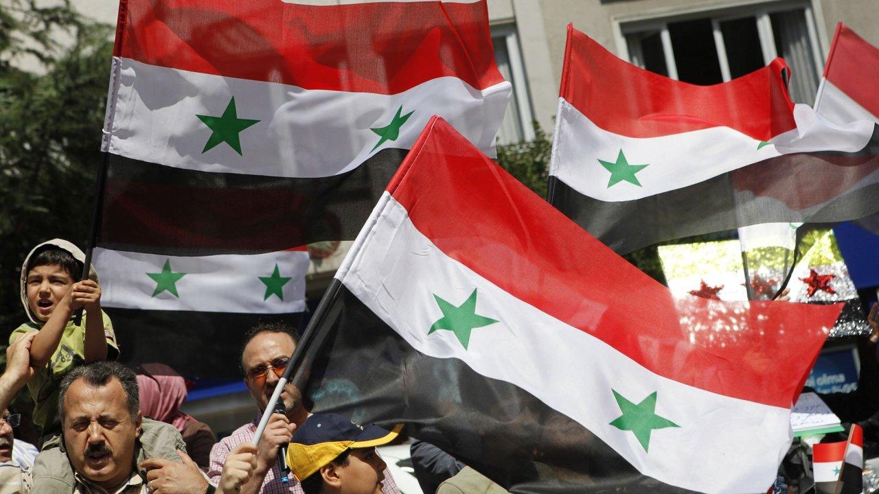 Protivládní demonstrace v Sýrii