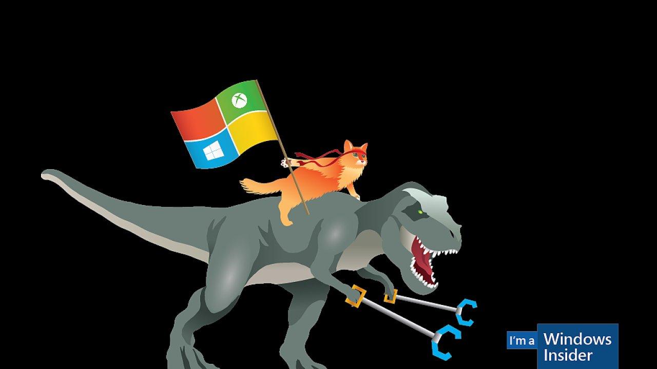 """Windows 10 je možné testovat v programu Windows Insider. Jeho maskotem je """"číča nindža"""""""