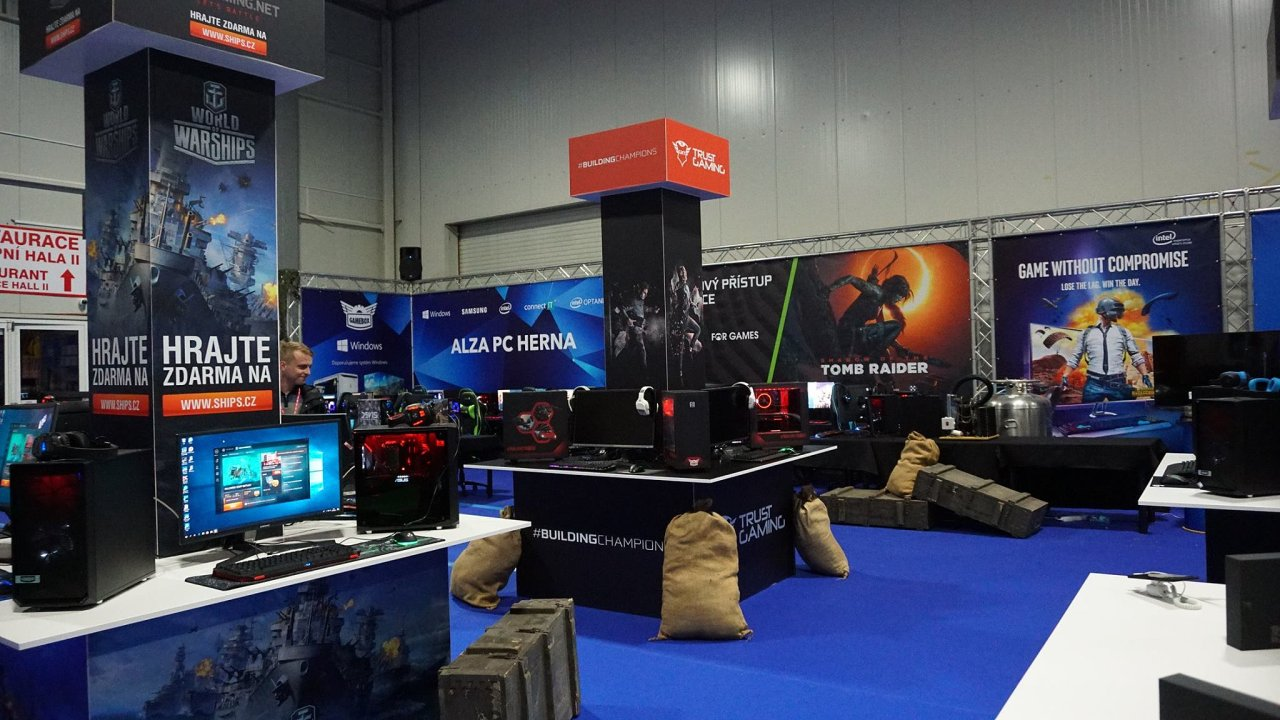 Herna od Alza Gaming na veletrhu For Games 2018