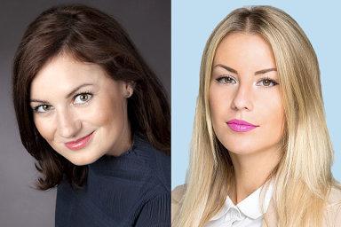 Katarína Karmažinová a Aneta Ježková, oddělení pro vztahy s veřejností a médii Colliers International ČR