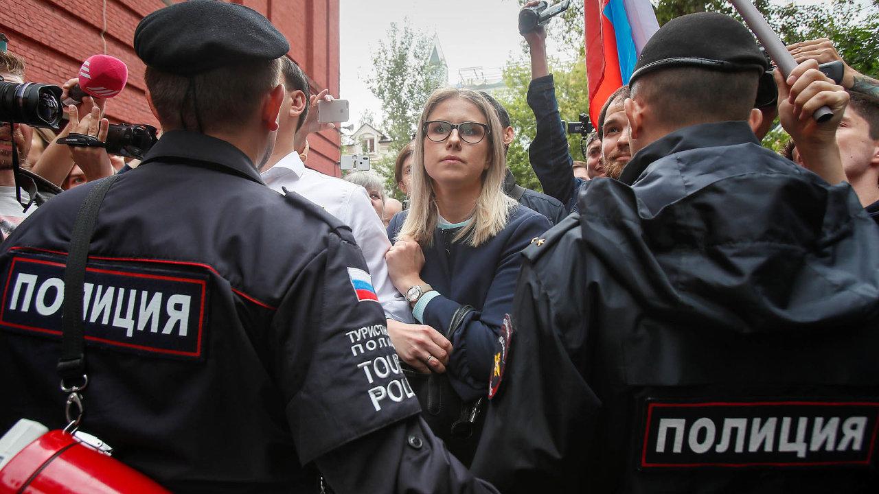 Tváří protestů proti vyřazení kandidátů opozice zvoleb domoskevského městského zastupitelstva se stala 32letá právnička Fondu boje proti korupci Ljubov Sobolová.