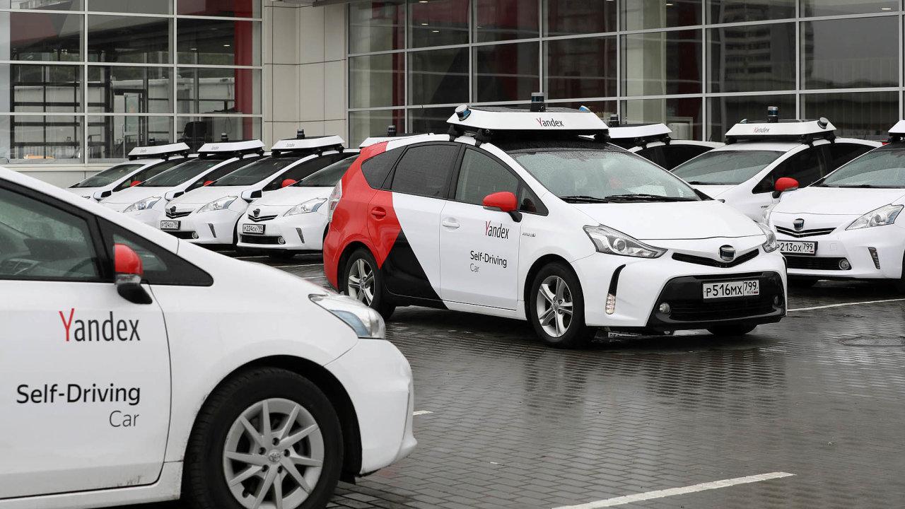 Yandex staví svá samořiditelná auta na bázi modelu Toyota Prius.
