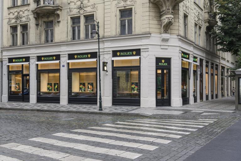 Nový pražský butik Rolex