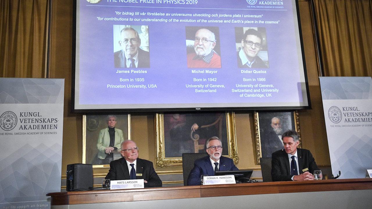 Královská švédská akademie v úterý udělila Nobelovu cenu za fyziku.