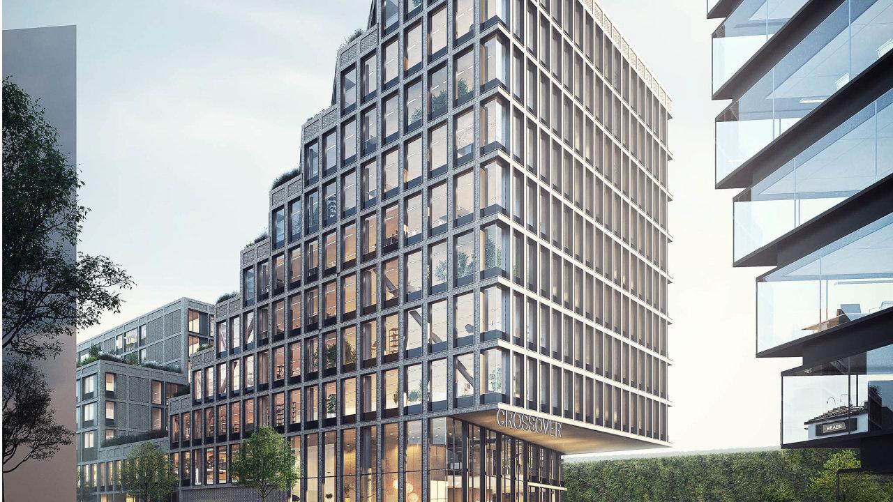 Vizualizace projektu Crossover vAmsterdamu odstudia Team VArchitectuur. Multifunkční budova bude odroku 2021 kombinací bydlení, práce, učení asdílení.