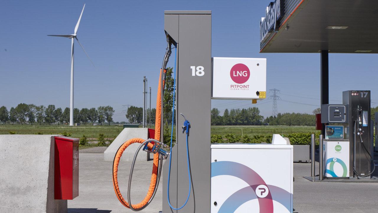 Čerpací stanice Eurowagu - PitPoint LNG.