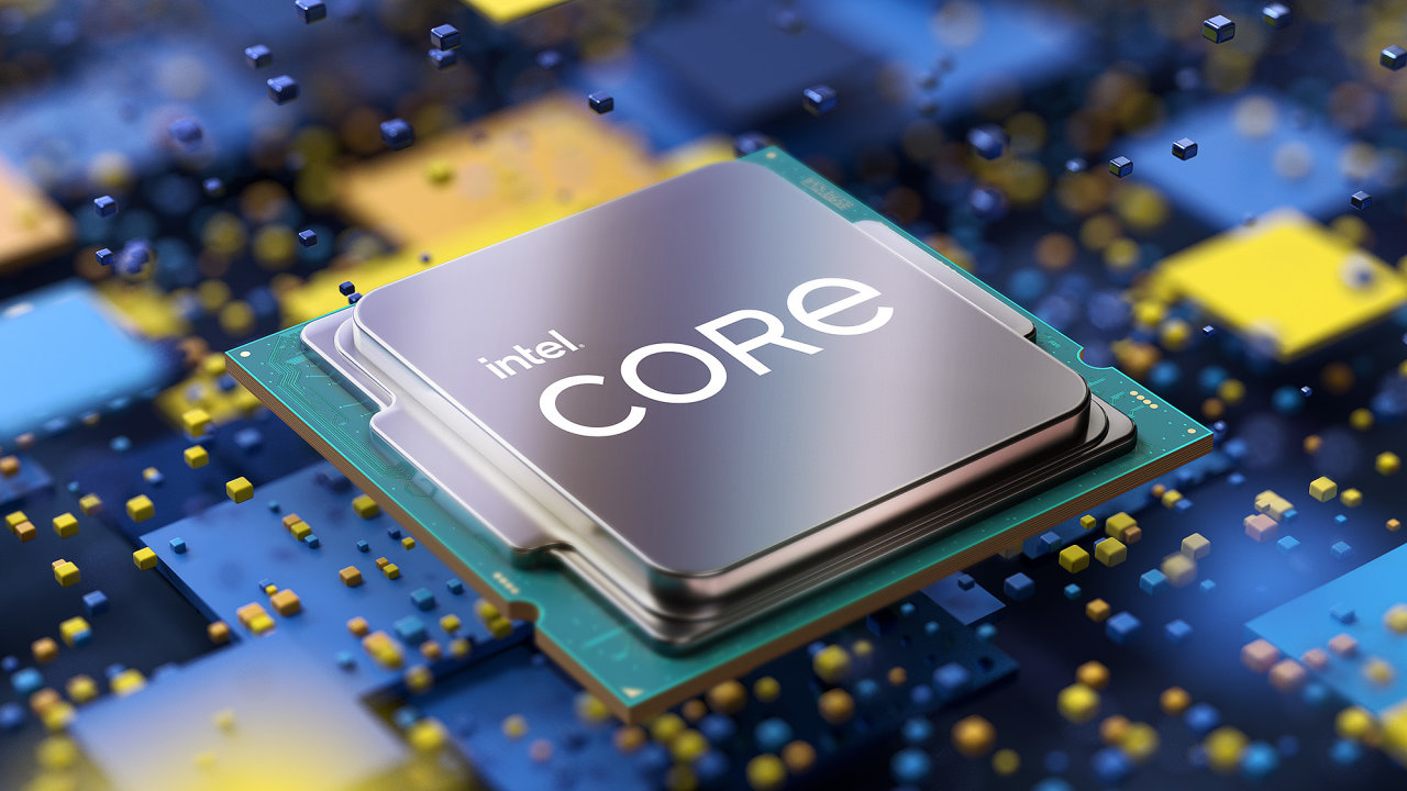 Desktopový procesor 11. generace Intel Core s kódovým označením Rocket Lake-S.