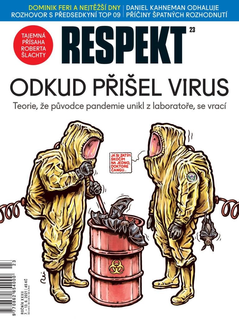Obálka Respektu 30/2021.