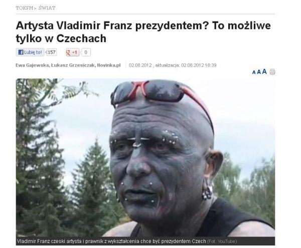 Vladimír Franz na stránkách polského serveru tokfm.pl