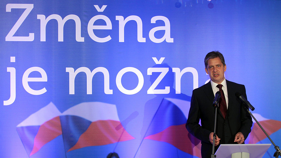 Prezidentský kandidát ČSSD Jiří Dienstbier