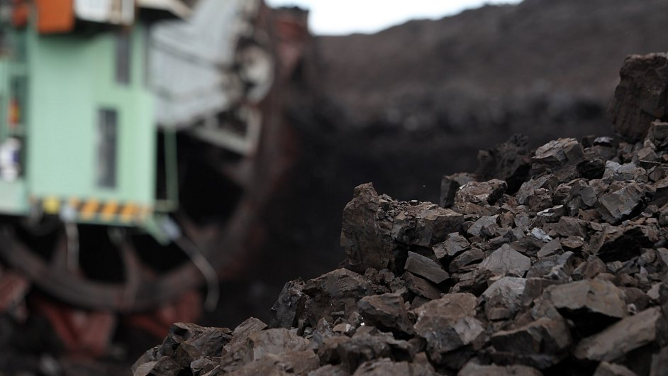 Těžba hnědého uhlí na severu Česka.