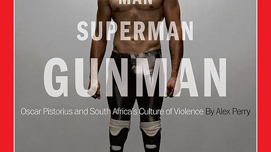 Obálka časopisu Time s Oscarem Pistoriusem