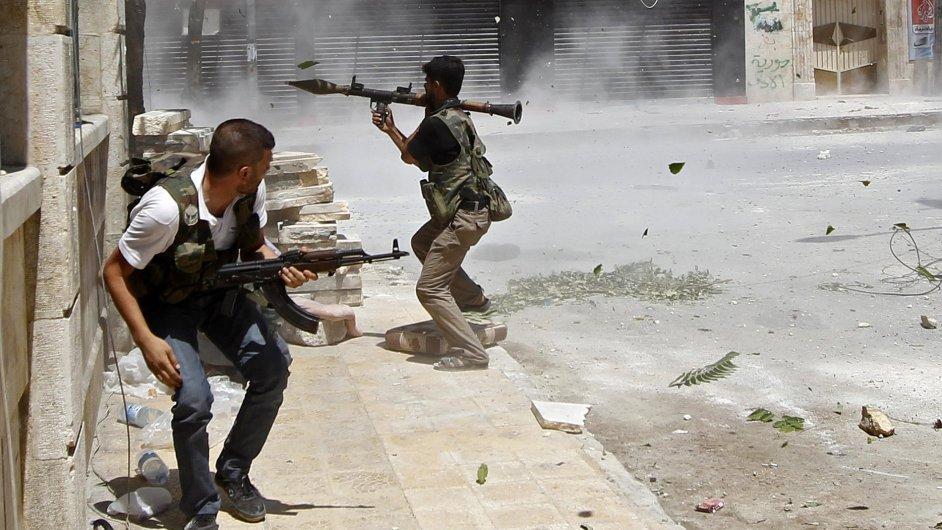 Syrští povstalci v Halabu