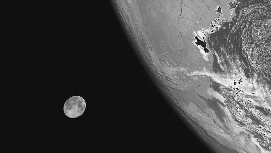 Měsíc zachycený satelitem MSG-3.