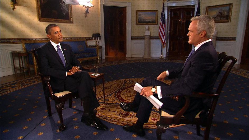 Obama při rozhovoru s televizní stanicí CBS
