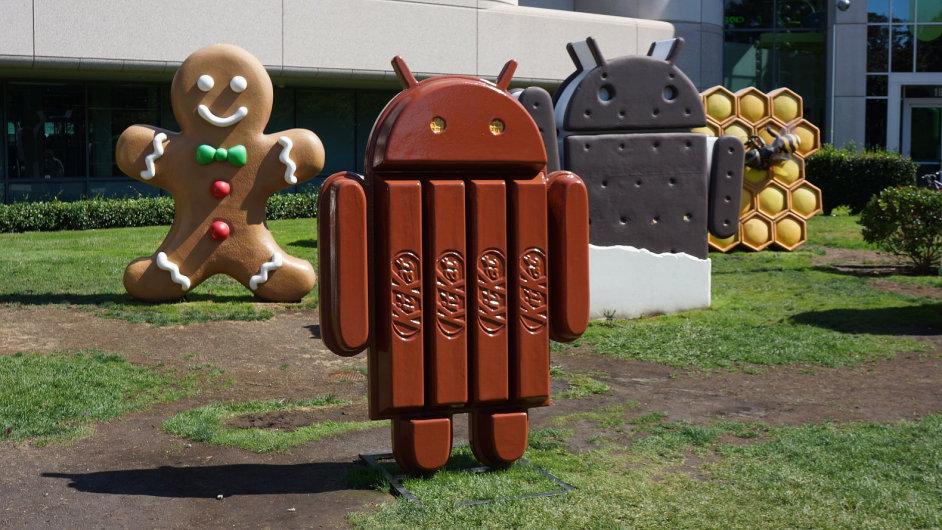 Googleplex: Velitelství Googlu v Mountain View v Kalifornii