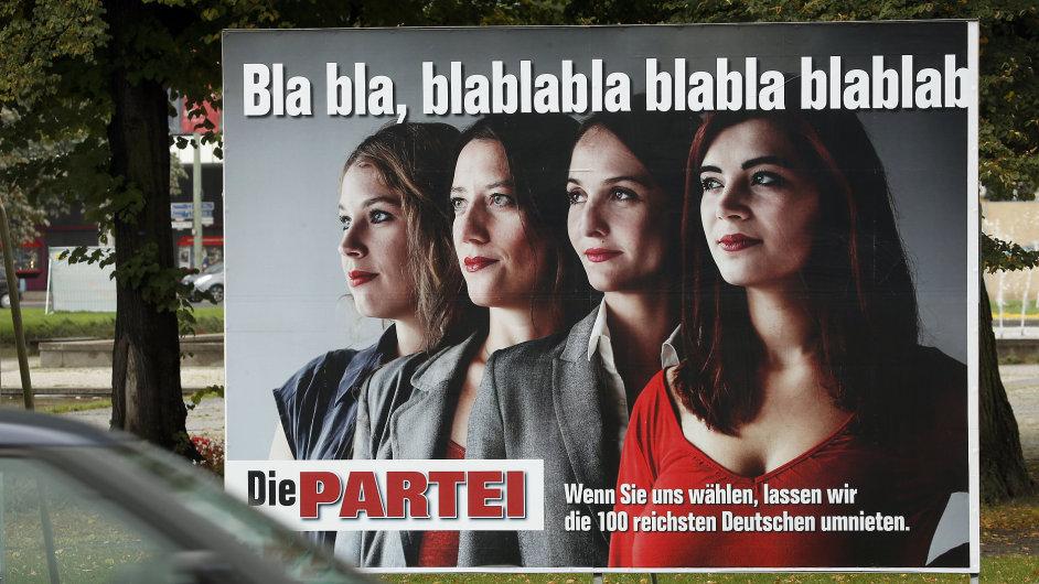 Satirické volební billboardy