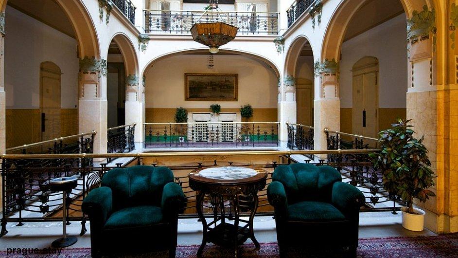 Interiér Grandhotelu Evropa v Praze