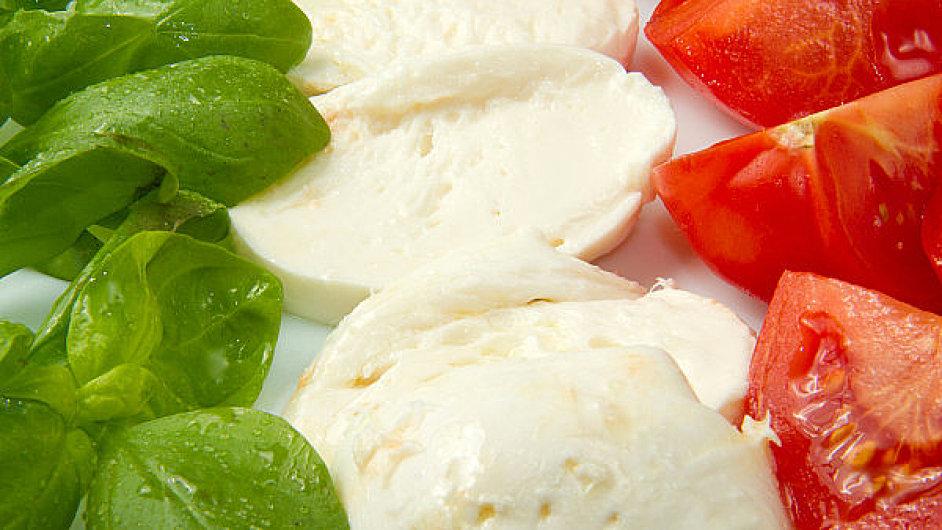 Italské barvy v jídle