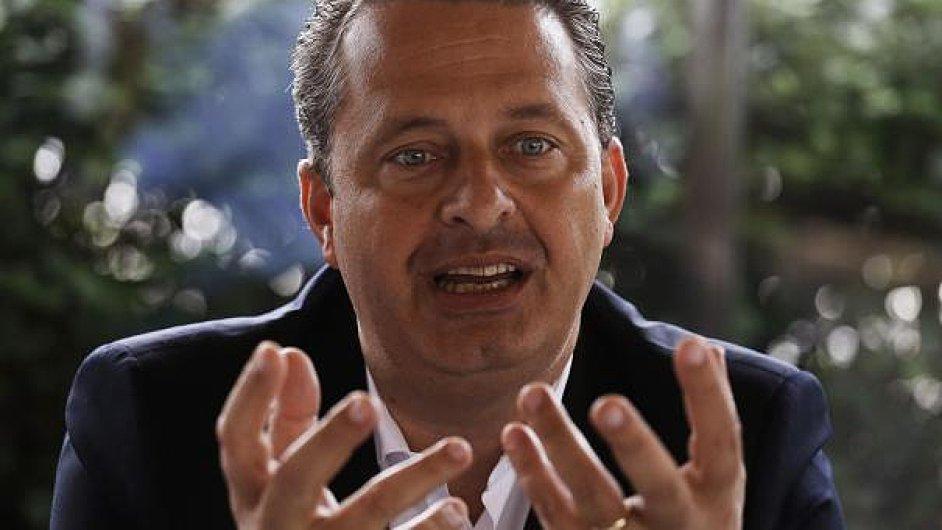Eduardo Campos, brazilský kandidát na prezidenta.