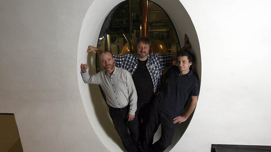 Majitelé Vinohradského pivovaru J. Korselt, F. Richter a V. Hrabák