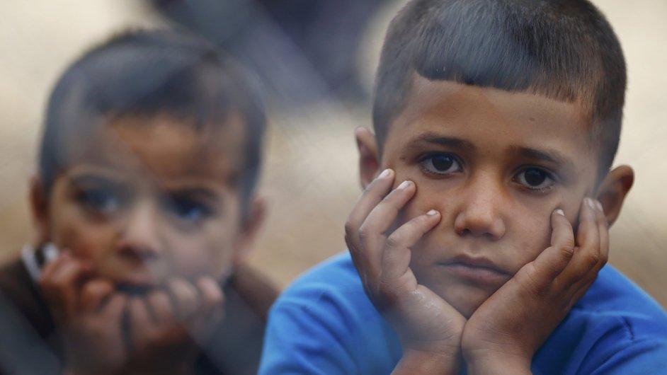 Kurdští chlapci z Kobani. Ilustrační foto.