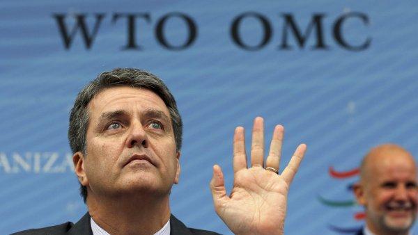 Gener�ln� �editel WTO Roberto Azevedo p�ed jedn�n�m o glob�ln� reform� obchodn�ch pravidel.