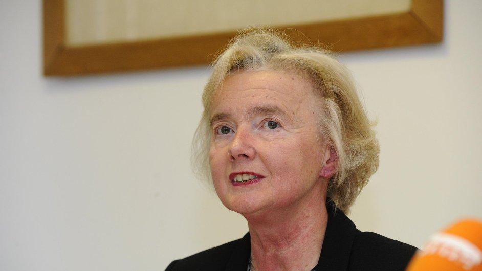 Rezignující předsedkyně Nejvyššího soudu Iva Brožová na snímku z 21. května 2013.