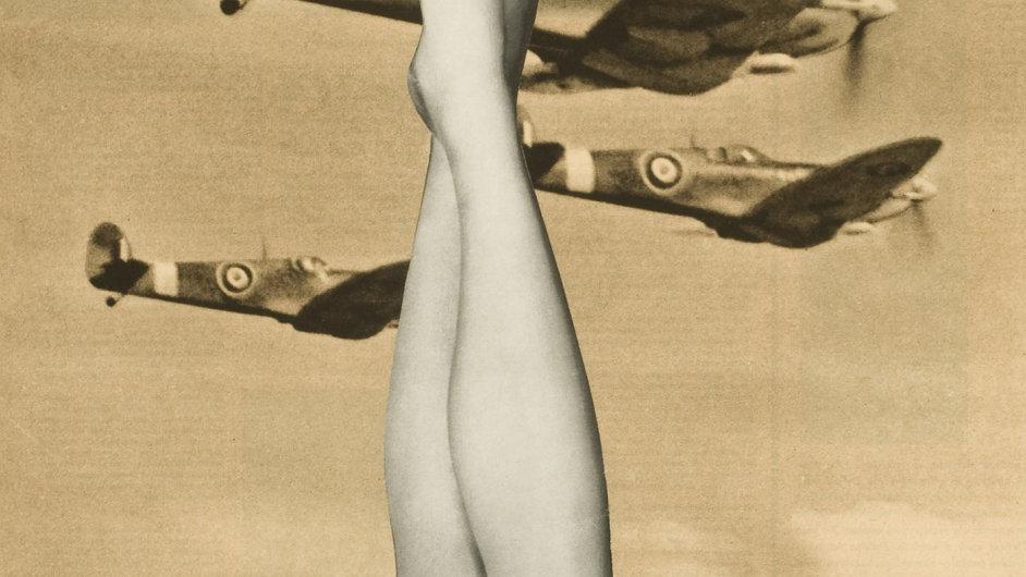 Karel Teige: Bez názvu, 1947, koláž