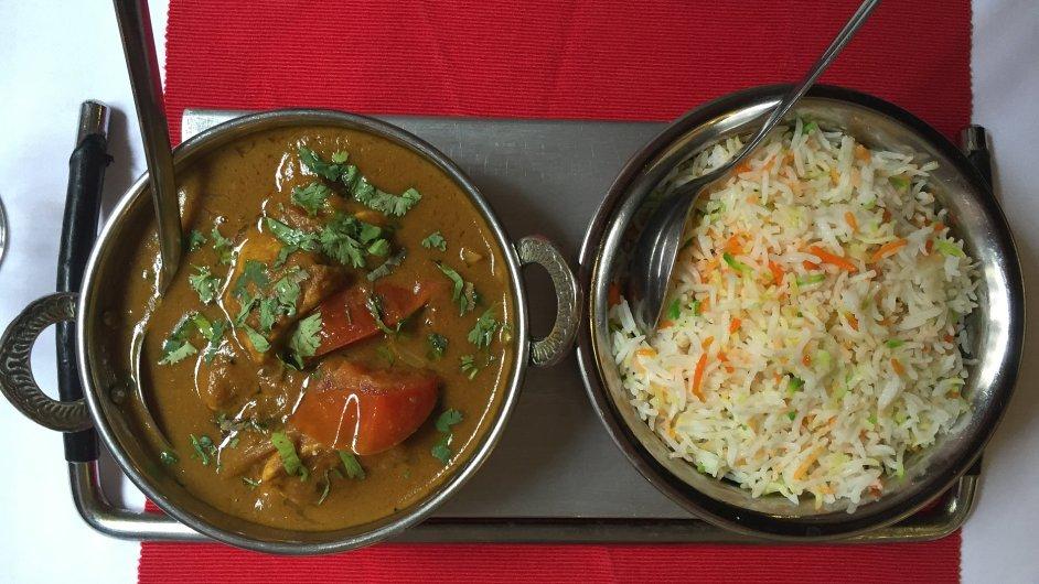 Kuřecí kari z Curry House