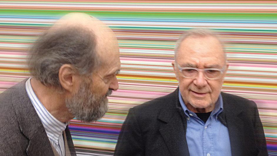 Na snímku umělci Gerhard Richter (vpravo) a Arvo Pärt.