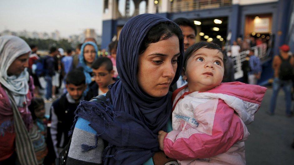 Uprchlíci na řeckém ostrově demonstrovali za lepší životní podmínky - ilustrační foto.