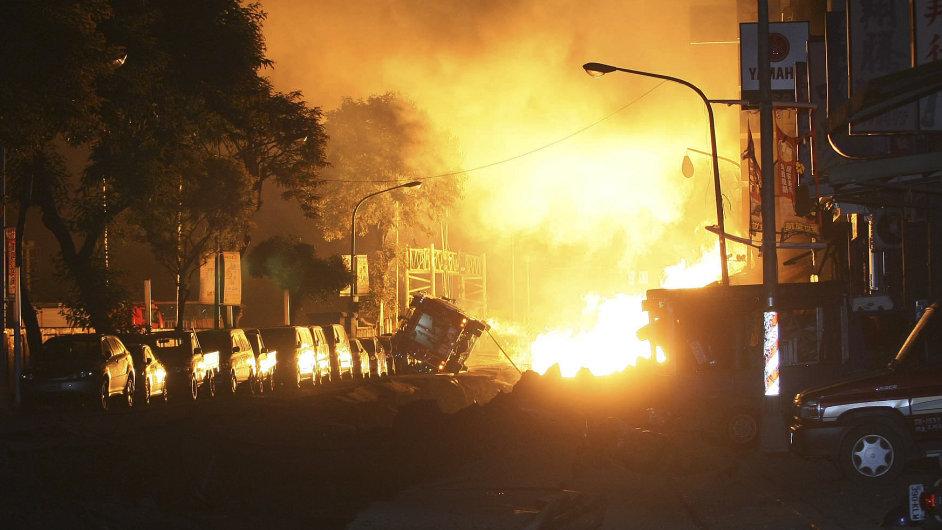 Výbuch plynu na Tchaj-wanu