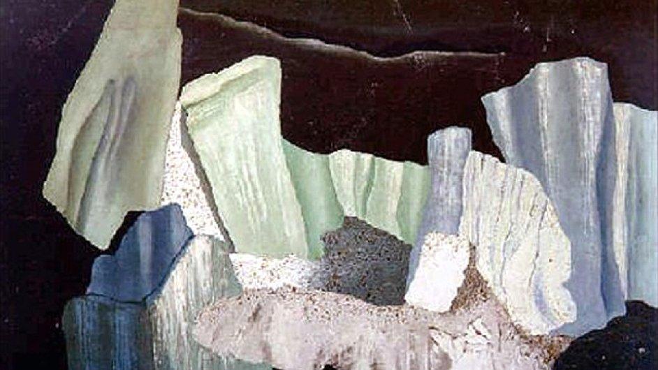 Na snímku je obraz Severní krajina od malířky Toyen.