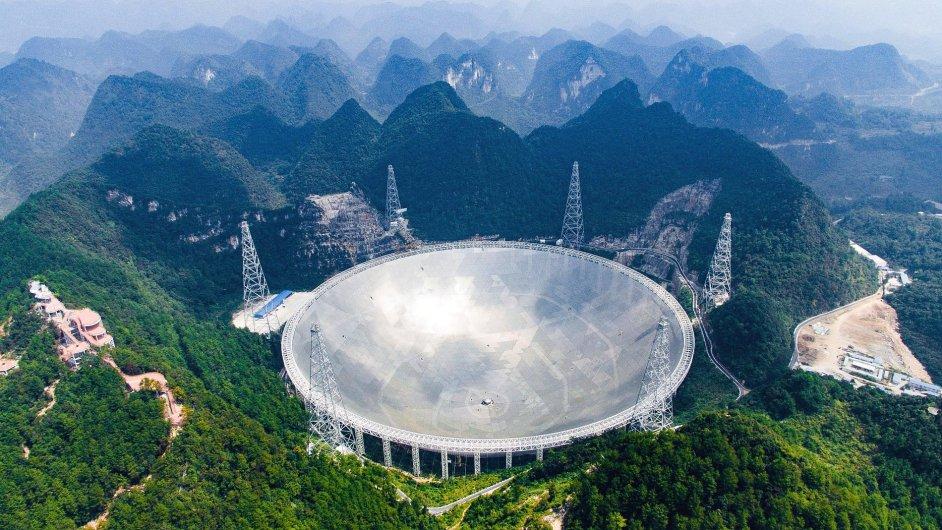 Největší vesmírný teleskop na světě s anténou o průměru půl kilometru.