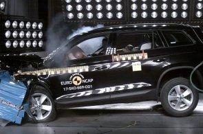 Škoda Kodiaq uspěla v crashtestu a získala pět hvězd. Podívejte se, jak zkouška probíhala