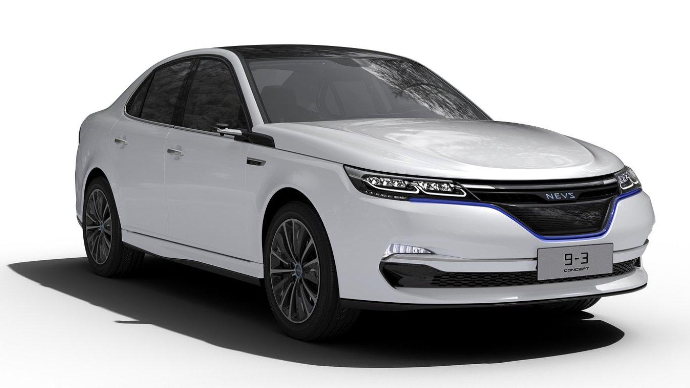 Nový elektromobil NEVS 9-3 vychází ze staršího Saabu 9-3.