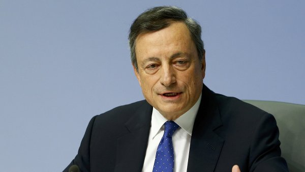 Guvernér Evropské centrální banky Mario Draghi.