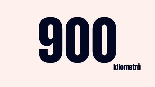 900 kilometrů