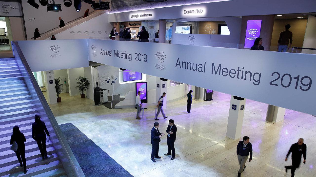 Světové ekonomické fórum ve švýcarském Davosu.