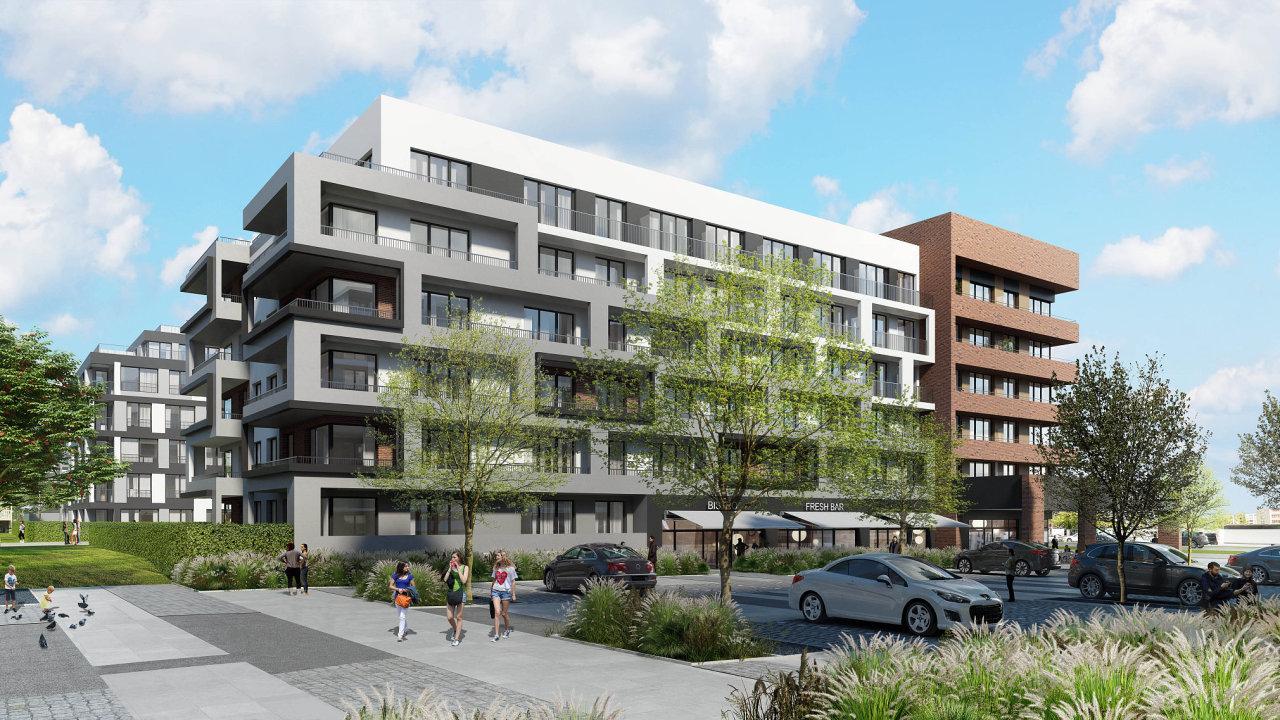 První etapu z plánovaných čtyř plánuje Central Group dokončit v roce 2023. Celková rozloha areálu v pražském Hloubětíně je 67 tisíc metrů čtverečních. - Ilustrační foto.
